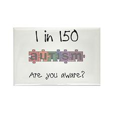Autism Awareness Month 1/150 Rectangle Magnet