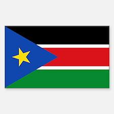 South Sudan Flag Sticker (Rectangle)