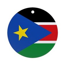 South Sudan Flag Ornament (Round)