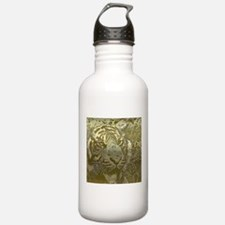 metal art tiger golden Water Bottle