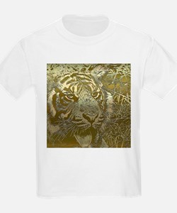 metal art tiger golden T-Shirt