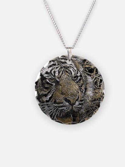 metal art tiger Necklace