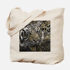 metal art tiger Tote Bag