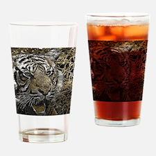 metal art tiger Drinking Glass