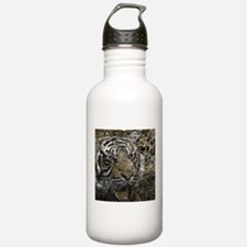 metal art tiger Water Bottle