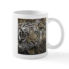 metal art tiger Mugs