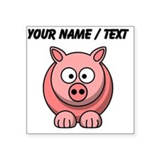 Custom Pink Pig Cartoon Sticker
