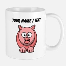 Custom Pink Pig Cartoon Mugs