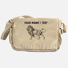 Custom Lion Sketch Messenger Bag