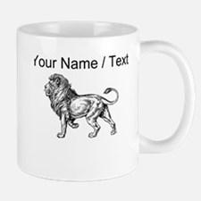 Custom Lion Sketch Mugs