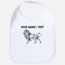 Custom Lion Sketch Bib