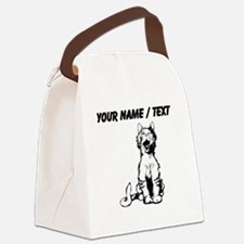 Custom Meowing Cat Canvas Lunch Bag