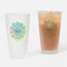 PCOS Awareness Drinking Glass