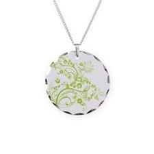 Green floral swirl design Necklace