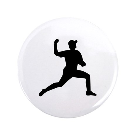 "Baseball pitcher player 3.5"" Button (100 pack)"