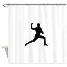 Baseball pitcher player Shower Curtain