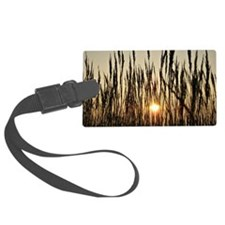 Tall Grasses with Backlit Settin Luggage Tag