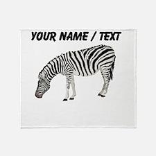 Custom Zebra Throw Blanket