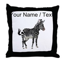 Custom Zebra Throw Pillow