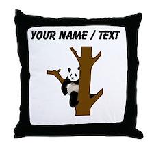 Custom Giant Panda In Tree Throw Pillow