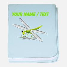 Custom Cartoon Dragonfly baby blanket