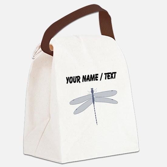 Custom Dragonfly Canvas Lunch Bag