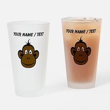 Custom Monkey Face Drinking Glass