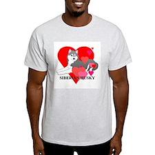 Gray Siberian Husky T-Shirt
