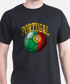 Flag of Portugal Soccer Ball T-Shirt