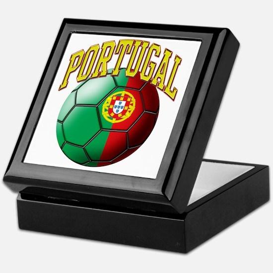 Flag of Portugal Soccer Ball Keepsake Box