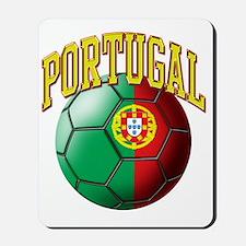 Flag of Portugal Soccer Ball Mousepad