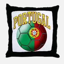 Flag of Portugal Soccer Ball Throw Pillow