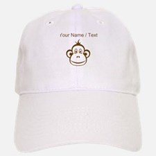 Custom Brown Monkey Face Baseball Baseball Cap
