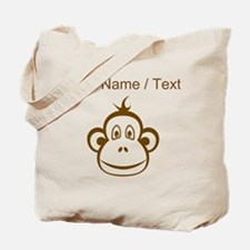 Custom Brown Monkey Face Tote Bag