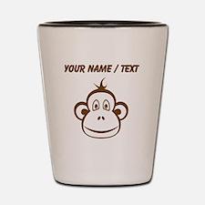 Custom Brown Monkey Face Shot Glass