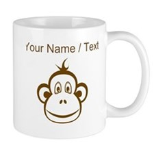 Custom Brown Monkey Face Mugs