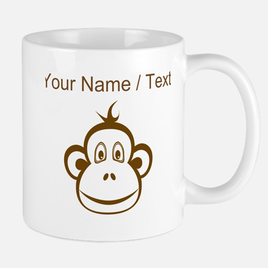 Custom Brown Monkey Face Mugs