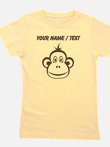 Custom Brown Monkey Face Girl's Tee