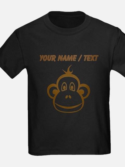 Custom Brown Monkey Face T-Shirt