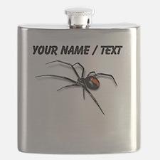 Custom Red Back Spider Flask