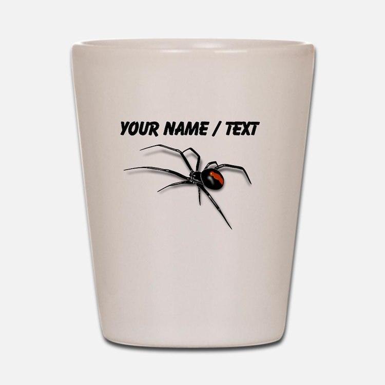 Custom Red Back Spider Shot Glass