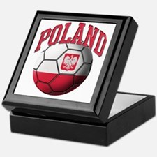 Flag of Poland Soccer Ball Keepsake Box