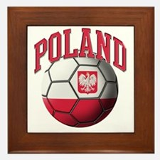 Flag of Poland Soccer Ball Framed Tile
