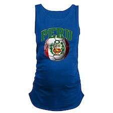 Flag of Peru Soccer Ball Maternity Tank Top