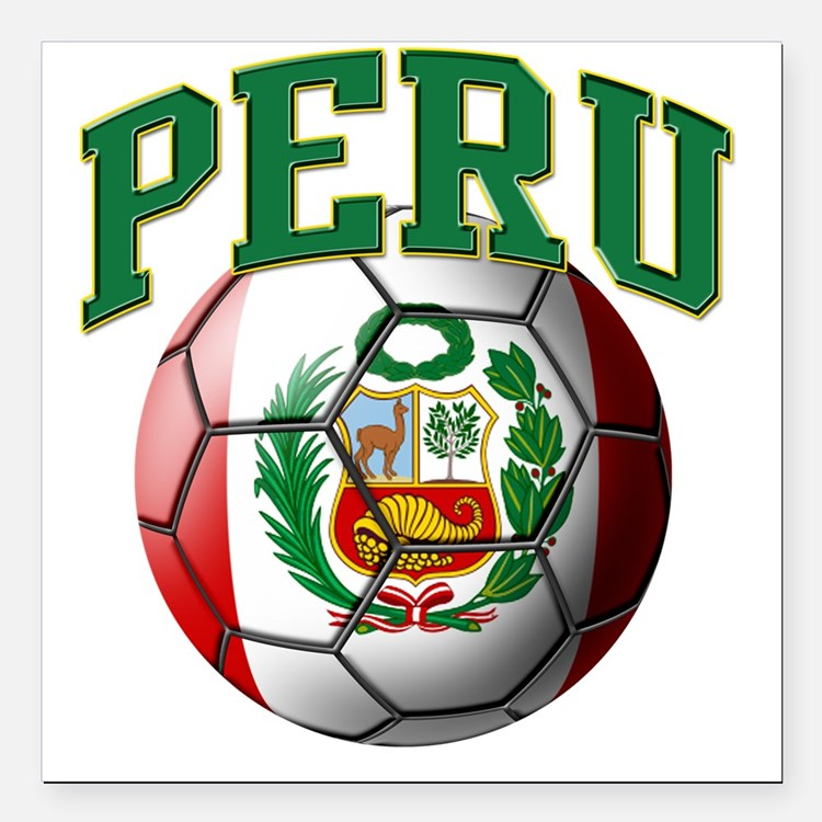 Peru Soccer Car Magnets Personalized Peru Soccer Magnetic Signs - Custom soccer ball car magnets