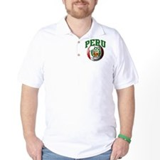 Flag of Peru Soccer Ball T-Shirt