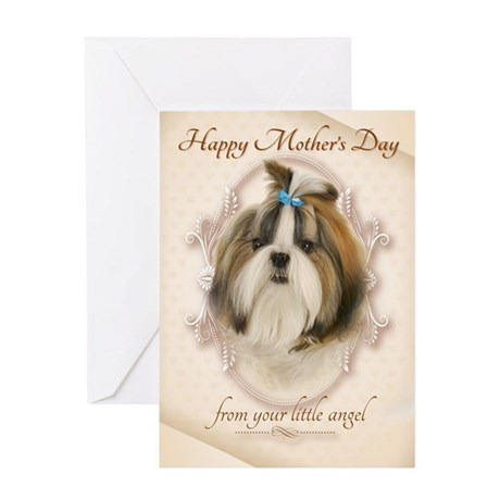 Funny Shih Tzu Mothers Day Cards