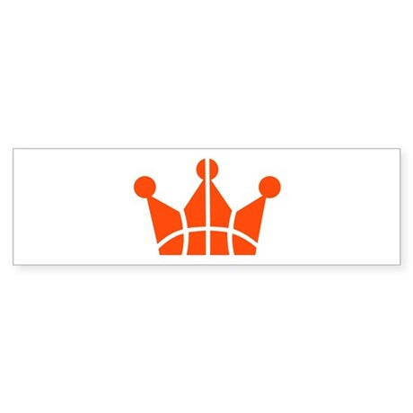 Basketball crown symbol Sticker (Bumper 50 pk)