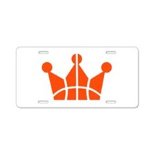 Basketball crown symbol Aluminum License Plate