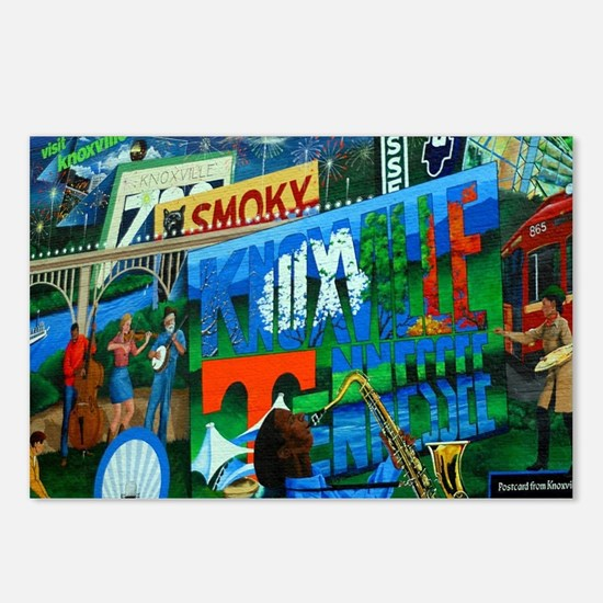 Knoxville, TN Mural Postcards (Package of 8)